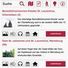 Listenansicht von Inhalten in der Romanik-App